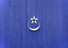 Doorknob with silver star Stock Photo