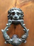 Doorknocker льва стоковая фотография