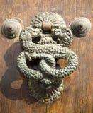 Doorknocker antiguo Imágenes de archivo libres de regalías