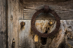 Doorknocker arrugginito Fotografie Stock