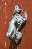 Doorknocker. Brienza. Basilicata. Italy. Royalty Free Stock Photo