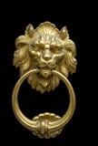 Doorknocker con el león Fotografía de archivo libre de regalías