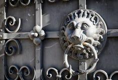 Doorknocker. At a front door Stock Images
