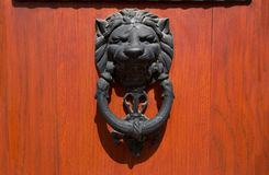 Doorknocker with head of lion Royalty Free Stock Photography