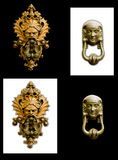 Doorknocker isolate in  black and white background Royalty Free Stock Photo