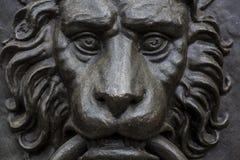 Doorknocker. A Lion style Doorknocker detail Royalty Free Stock Photos