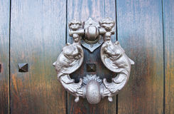 Doorknocker. Viggianello. Basilicata. Italy. Royalty Free Stock Photo
