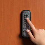 Doorlock with a key code Royalty Free Stock Photo