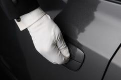 Doorman-Öffnungs-Auto-Tür Lizenzfreie Stockfotos