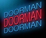 Doorman concept. Royalty Free Stock Image