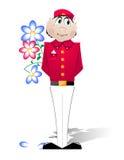 Doorman in einer roten Uniform Lizenzfreie Stockfotografie