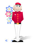 Doorman em um uniforme vermelho Fotografia de Stock Royalty Free