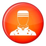 Doorman icon, flat style Royalty Free Stock Images