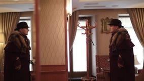 Doorman opatrunek W hotelu zbiory wideo