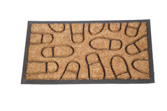 Doormat 01. Welcome mat isolated on white Royalty Free Stock Images