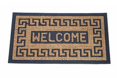 Doormat 04. Welcome mat isolated on white background Royalty Free Stock Image