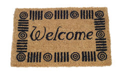 Doormat 12. Welcome mat - isolated on white background Stock Photo
