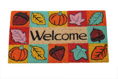 Doormat 13. Welcome mat - isolated on white background Royalty Free Stock Images
