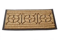 Doormat. Welcome mat - isolated on white background Stock Photography