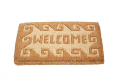 Doormat. Welcome mat - isolated on white background - clipping path included Stock Photos