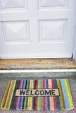 Doormat bem-vindo Fotos de Stock Royalty Free