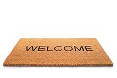 Doormat bem-vindo imagem de stock