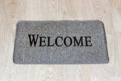 Doormat on a floor. Royalty Free Stock Images