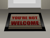 Doormat Not Welcome. Doormat that says, that you are not welcome royalty free illustration