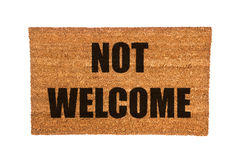Doormat with Not Welcome Text Royalty Free Stock Photography