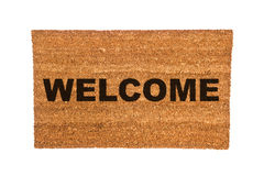 Doormat with Welcome Text Stock Photo
