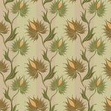 Doornig-bloem-patroon stock illustratie