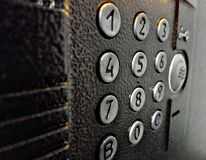 Doorphone控制按钮 免版税库存照片