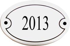 Doorplate com número 2013 Imagens de Stock