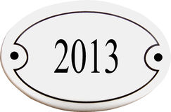 Doorplate with number 2013 Stock Images