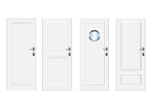 Doors. White  doors with panels Royalty Free Stock Photography