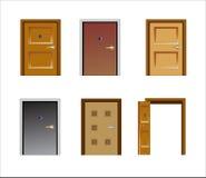 Doors. Vector illustration of several kinds of doors royalty free illustration