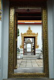 Doors. Different character of doors in the Thai temple Stock Photos