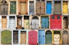 Doors. Colorful wooden doors from Malta, Europe Stock Image