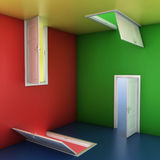 Doors abstract 3d illustration Stock Photography