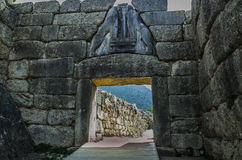 Doors of the ancient city of Mycenae royalty free stock photo