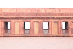 Doors on Ancient wall. Of Red Fort, Agra, India Royalty Free Stock Image