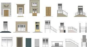 Doors And Porch Collection Royalty Free Stock Photography