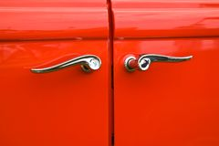 Doors of an antique car Royalty Free Stock Photo