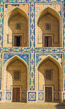 Doors and arch in the old city center of Bukhara, Uzbekistan, M Royalty Free Stock Photography