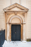 Doors with architectural columns. Doors of church with architectural columns Stock Photos