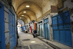 Doors and architecture of souk medina keirouan Royalty Free Stock Images