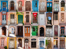 Doors of Ayvalik. Aegean town of Turkey Stock Images