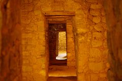 The doors at the Aztec National Monument. Royalty Free Stock Photos