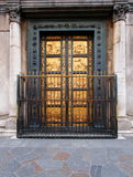 Doors of the baptistery, Florence, Italy. Photo was taken in February Stock Images