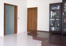Doors and book shelf Royalty Free Stock Photos